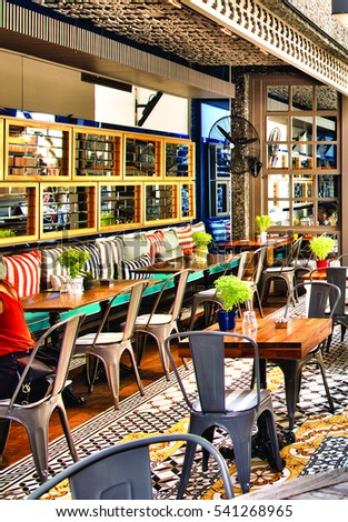 barcelona spain 20 december 2016 the interior design of a restaurant and seating - Interior Design Groups