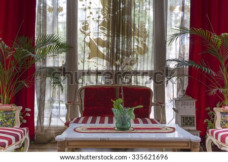 BARCELONA SPAIN JULY 16 Interior Of Classical Spanish Living Room In Barcelona With
