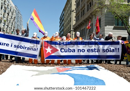 BARCELONA, SPAIN - MAY 01: Thousands of people celebrate International Workers' Day with a May Day march against the recent cuts and for work, rights and dignity on May 1st, 2012 in Barcelona, Spain