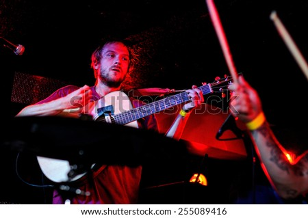 BARCELONA, SPAIN - SEPT 16: Jakko & Jay performs at Be Cool on September 16, 2010 in Barcelona, Spain. - stock photo