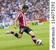 BARCELONA, SPAIN - SEPTEMBER 16: Markel Susaeta of Athletic in action during the Spanish League match between Espanyol and Athletic Club, final score 3-3, on September 16, 2012, in Barcelona, Spain. - stock photo