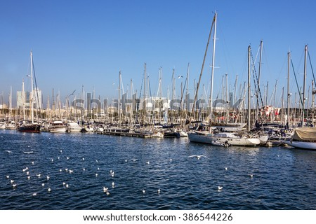 Barcelona, Spain, Yacht marina, Port Vell, Catalonia
