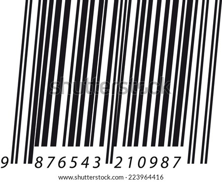 Barcode italic - stock photo