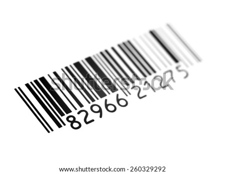 barcode on a white background - stock photo