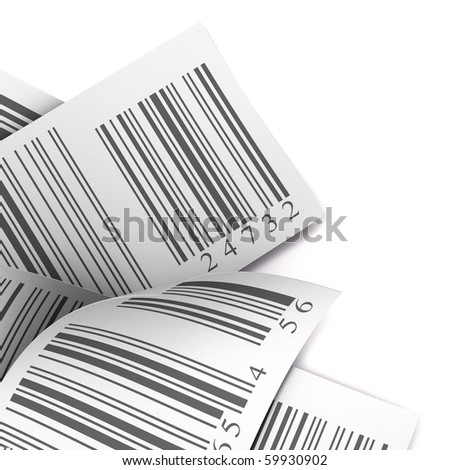 barcodes stickers over a white background