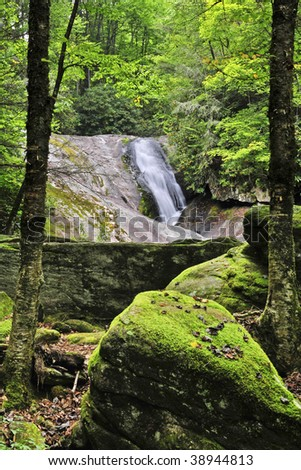 Bard Falls, Avery County, North Carolina - stock photo
