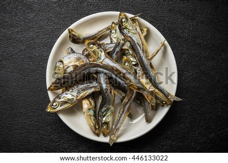 Bare anchovy Japan of the soup stock - stock photo