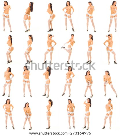 Bare and Charming Erotic Happiness  - stock photo