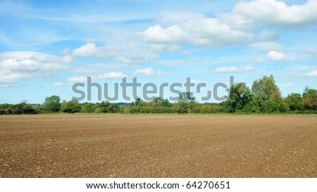 Bare Farmland - stock photo