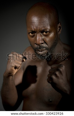 Bare Knuckle Fighter - stock photo