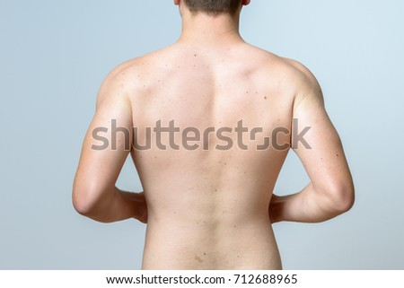 Bare Upper Torso Fit Muscular Young Stock Photo 712688965 Shutterstock