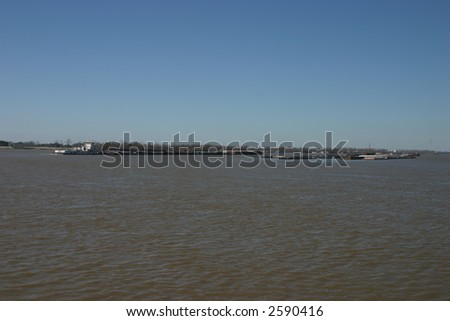 Barge Traffic on the Mississippi River