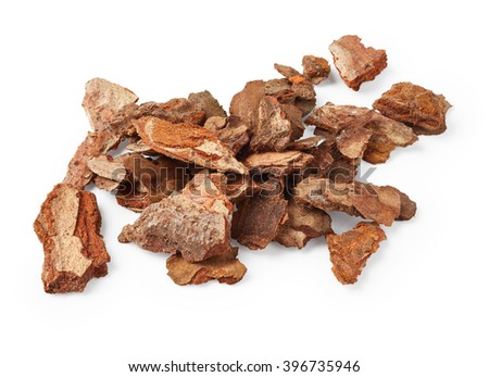 Bark tree isolated on white background - stock photo