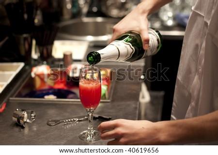 barman at work - stock photo