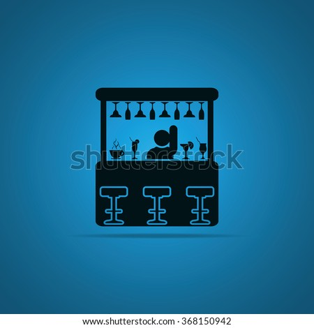 Barman illustration. Bar icon.  - stock photo