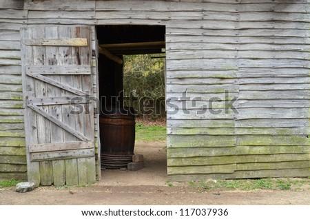 Barn Door - stock photo