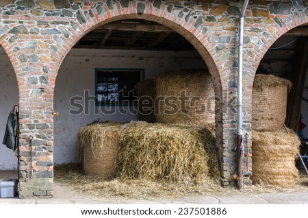 barn of brick and stone