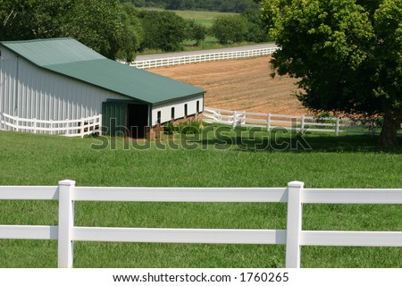 Barn Sunrise - stock photo