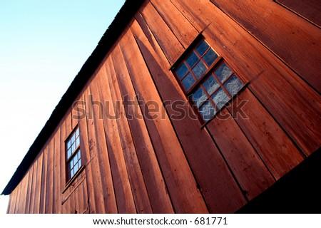 Barn Windows - stock photo