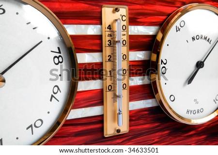 Barometer - detail - stock photo