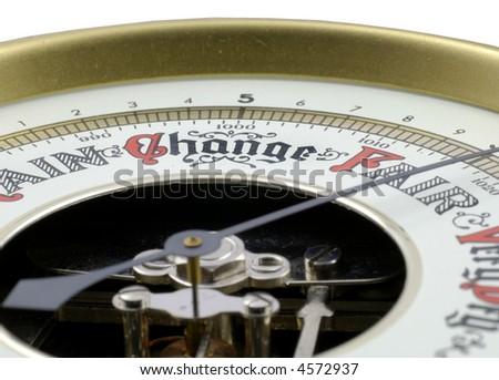 barometer; oblique view; differential focus - stock photo