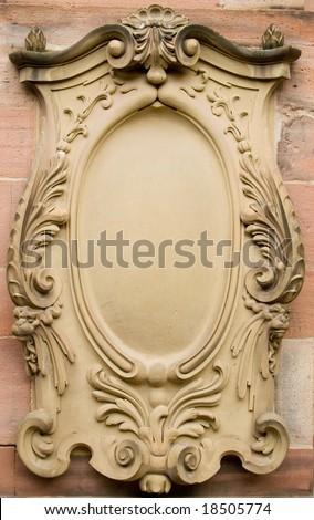 Baroque bas-relief board - stock photo