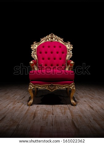 Baroque Chair on Stage  - stock photo