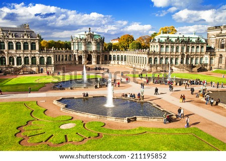 Baroque Dresden, Zwinger museum - stock photo