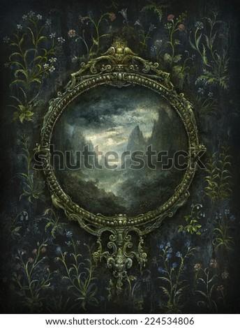 Baroque frame - stock photo