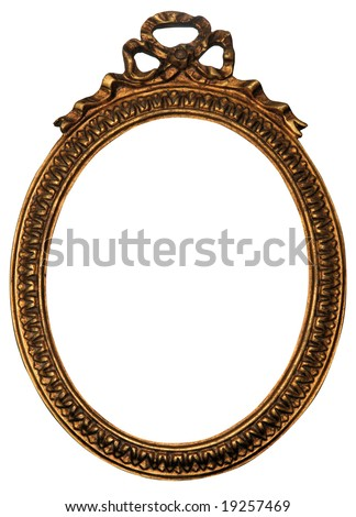 Baroque Gold Mirror / Picture Frame with Ornaments to put your owns pictures on it. File contains clipping path. - stock photo