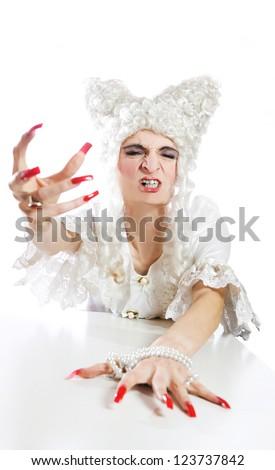 Baroque spooky shoot. - stock photo
