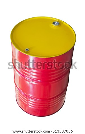 barrel by the liquid on a white background