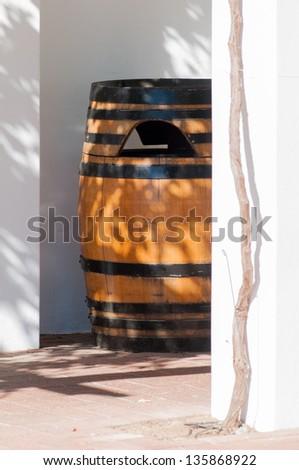 Barrel of wine, Stellenbosch, Western Cape, South Africa - stock photo