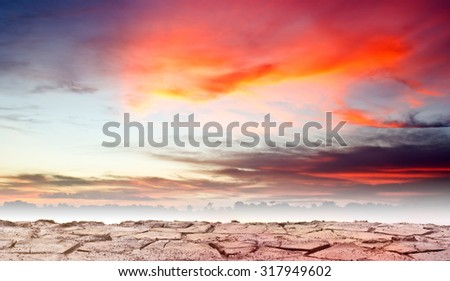 Barren ground or cracked soil pattern. - stock photo