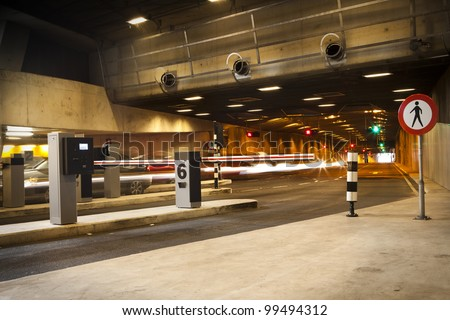 Barrier for Entrance and exit of a Parking garage