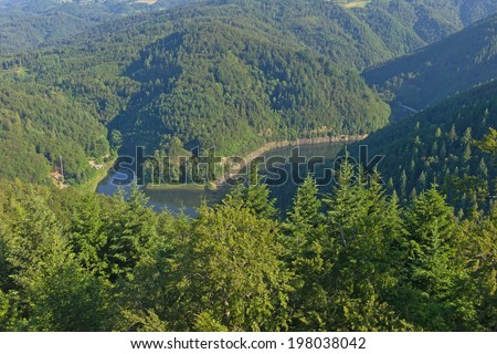 barrier lake, Wehra, Black Forest, Germany - stock photo