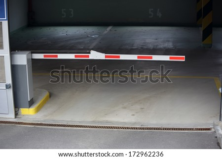 barrier to entry in the underground Parking