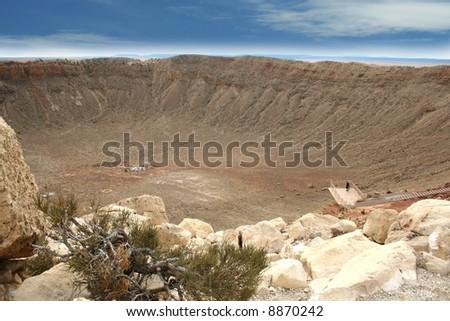 Barringer Meteor Crater, Arizona - stock photo
