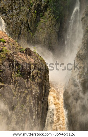 Barron Falls, Barron Gorge National Park, Cairns, Queensland, Australia - stock photo