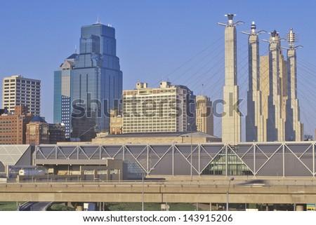Bartle Hall Convention Center, Kansas City, MO - stock photo