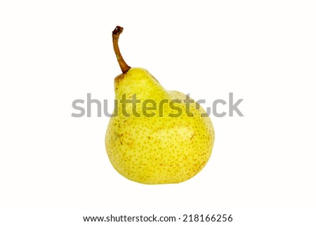 Bartlet Pear isolated on a white background - stock photo
