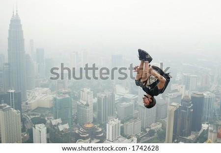 BASE JUMP 09 - stock photo