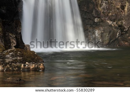 Base of waterfall. - stock photo