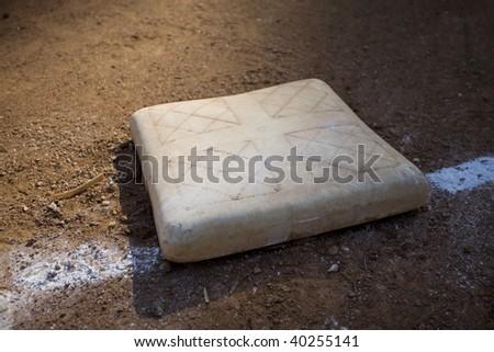 Base on Baseball Field - stock photo