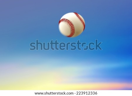 Baseball Ball Home Run - stock photo