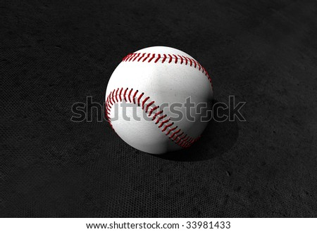 Baseball ball ilustration isolated over a black background