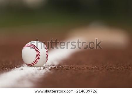 baseball ball in line - stock photo