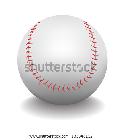 Baseball ball. Its a raster version. Vector search in my portfolio. - stock photo