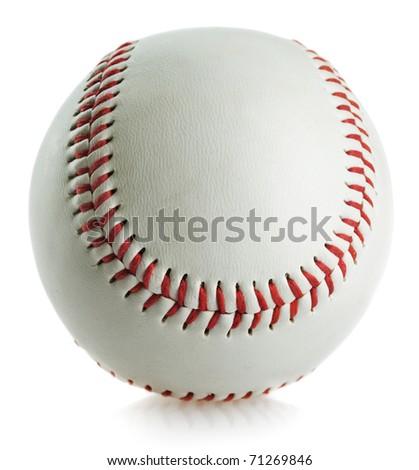 Baseball ball on white background - stock photo