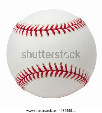 baseball ball with pass - stock photo